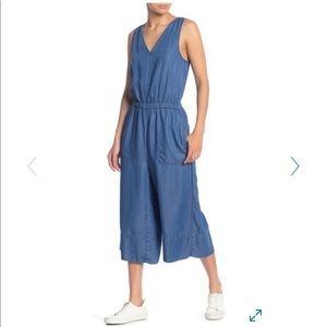 Splendid M wide leg chambray jumpsuit